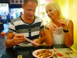 Experience the local culture by trying out local cuisine and recommended by a local.(Peter and Anneli from Sweden)