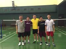Group picture with the coach and training partners.