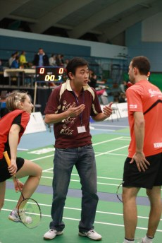 Coach Andrew Chang coaching in Czech Republic
