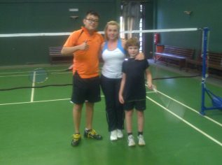 Coach Andrew with Kasia and Victor from England