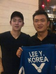 Coach Andrew with Olympic Champion and Korean Star Lee Yong Dae