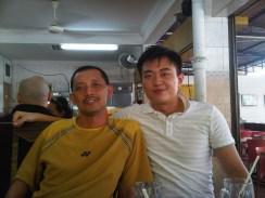 Coach Andrew with Rahman Sidek
