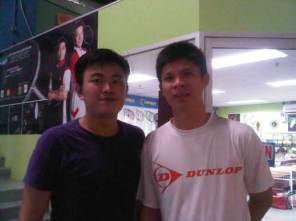 Coach Andrew with Former World Number 1 Wong Choong Hann