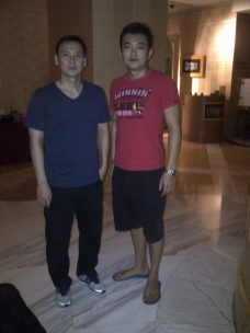 Coach Andrew with Former Olympic and World Champion Tony Gunawan