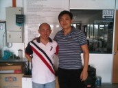 Coach Andrew with Malaysia former Head Coach and Olympic SIlver Medalist Yap Kim Hock