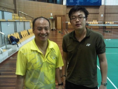 Coach Andrew with Former World Champion Hendrawan