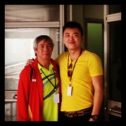Coach Andrew with Legendary Indonesian coach and player Christian Hadinata(Father of Indonesia Badminton)