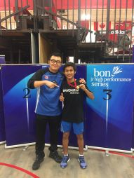 Coach Andrew Chang with Reza U19 National Boys Champion