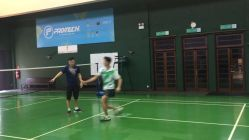 Coach Andrew Chang footwork shadow with Joshua