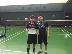 Coach Andrew with Lai Hong Shen