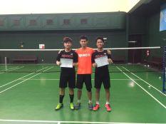 Players with Coach Darma