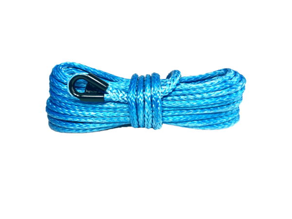 """1/4"""" Blue Synthetic Winch Rope"""