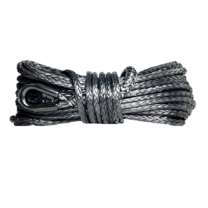 """7/16"""" Synthetic Winch Rope - Black"""