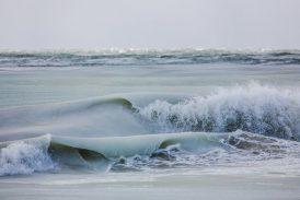"""""""Olas congeladas"""", el maravilloso espectáculo natural que ocurre en Nantucket (EE.UU.)"""