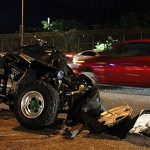"Muere en accidente con ""four track"" frente a cuartel"