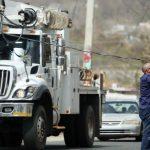 Tirotean camión de brigada estadounidense de energía eléctrica