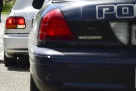 Accidente de auto con vehículo oficial en Las Piedras