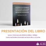 Presenta libro sobre investigaciones