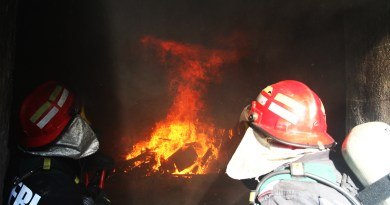 Reading fire with Vatra Dornei's firefighters
