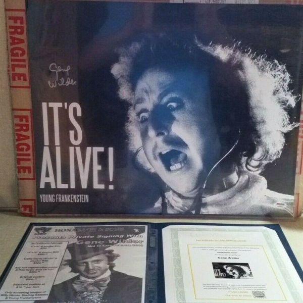 Gene Wilder Autographed Young Frankenstein Poster, 16×20 with PSA/DNA COA