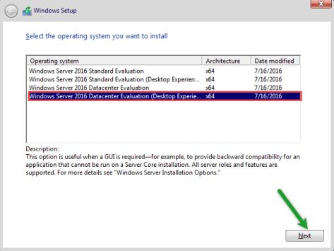 Select server edition
