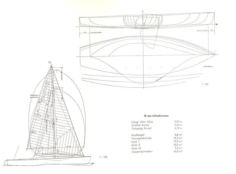 Segel 20er Jollenkreuzer One Design Tactix Yachting