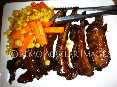 The yummy, soft and tasty baby back ribs of Palm Bistro.