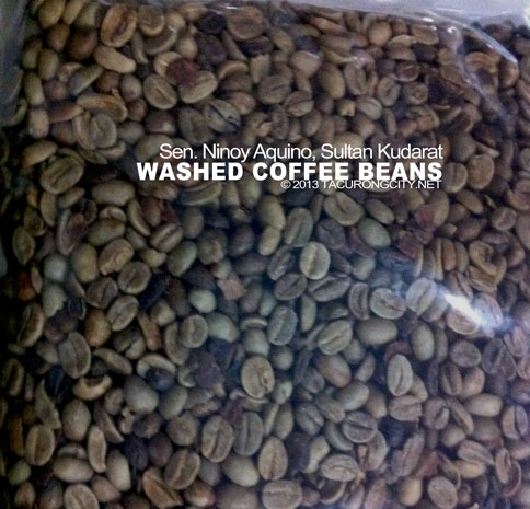 """dried, """"washed"""" coffee beans. Washed beans are of premium quality"""