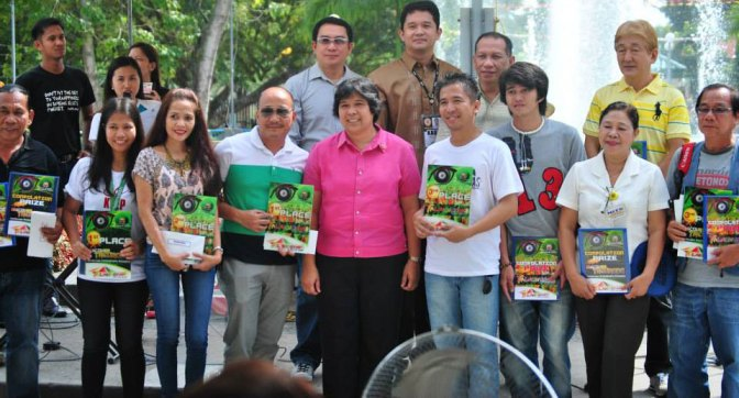 The Igpat sang Kamera 2013 Winners during the awarding ceremony fronting Tacurong City Hall