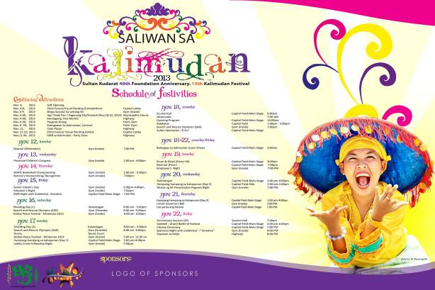!5th Kalimudan Festival Schedule