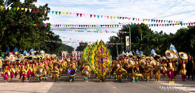 Tribu Manubiaw, the 2014 Talakudong Champions while performing in the street of Tacurong