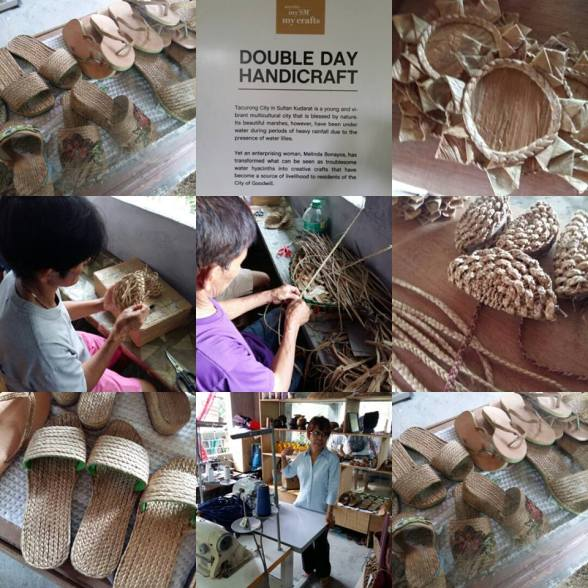 Double Day Handicrafts products made of dried water hyacinth! (Photo by Olan Emboscado of The Travel Teller)