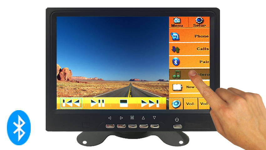 touch screen bluetooth monitor for backup camera