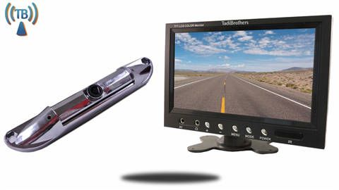 wireless license plate rear view camera system