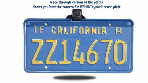 installed license plate backup camera