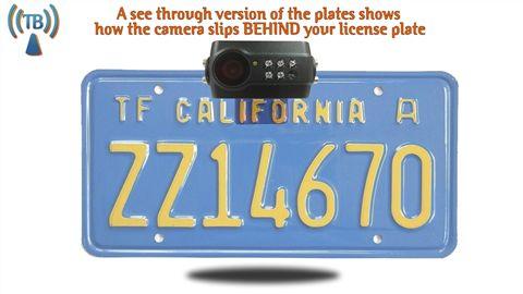 installed digital license plate camera
