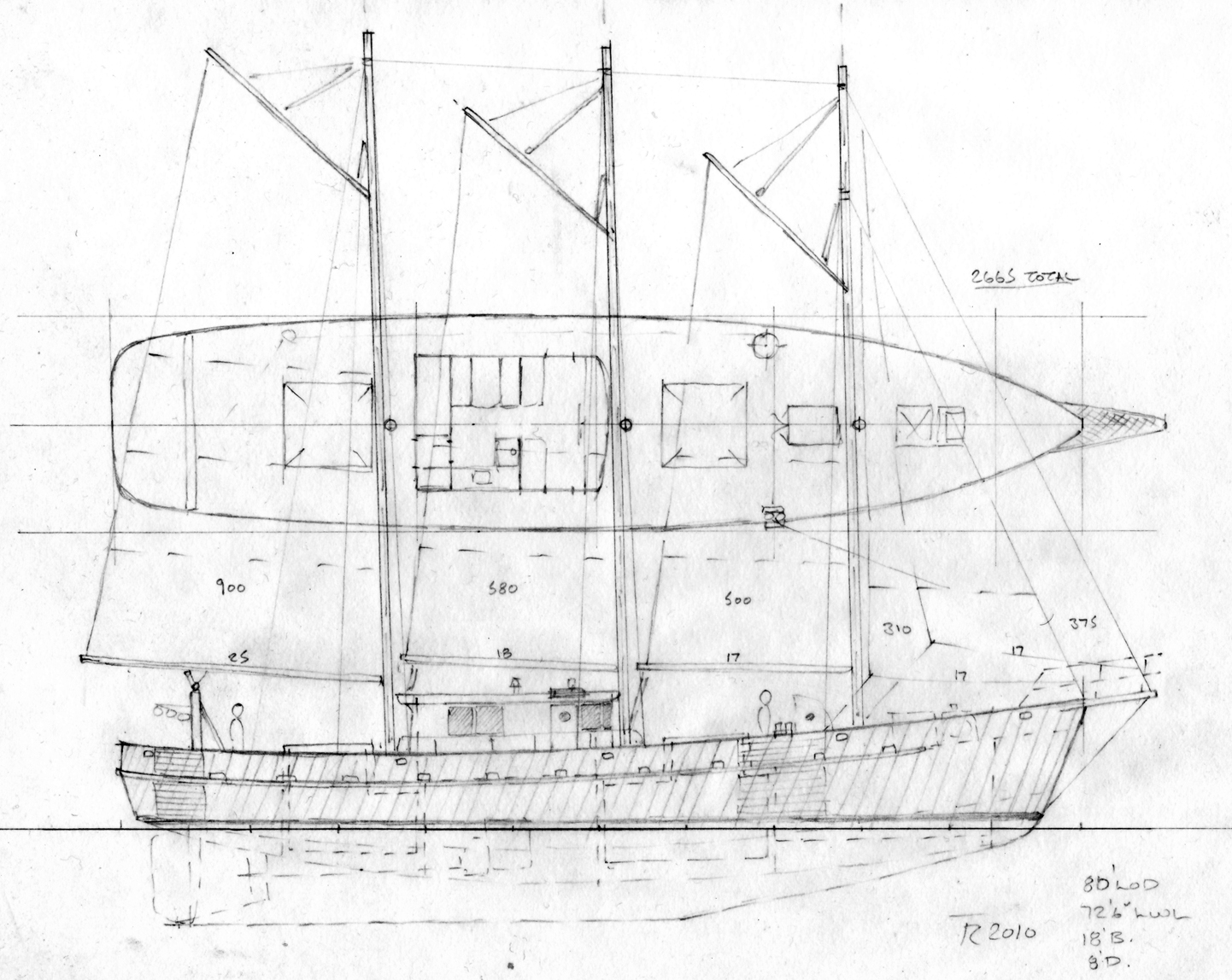 80 Three Masted Fishing Schooner Sail Boat Designs By