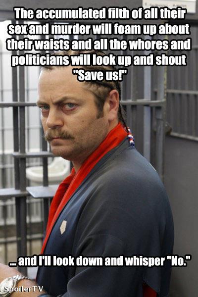 My favorite Sworsach so far. (internet meme alert) Which means since last night.