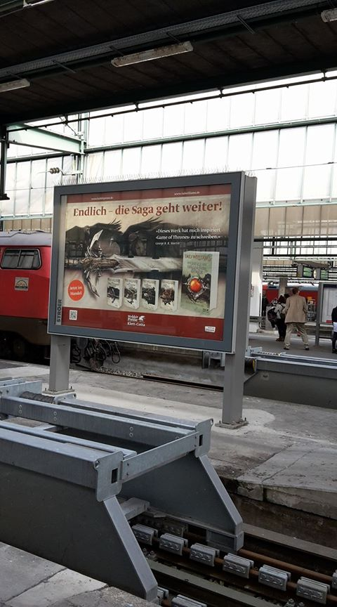 Osten Ard display at railway station
