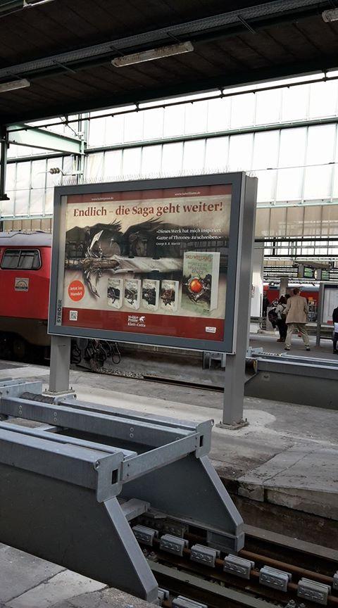 Osten Ard display at railway station