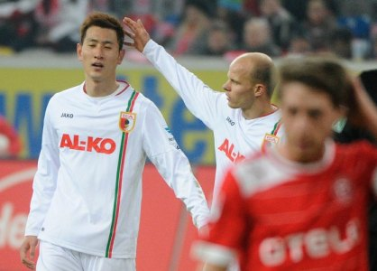 Ji's first start for Augsburg.