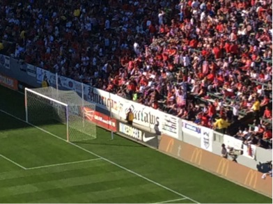 The American Outlaws. The best moment for me during this match can be described in two words:  Mexican Wave.