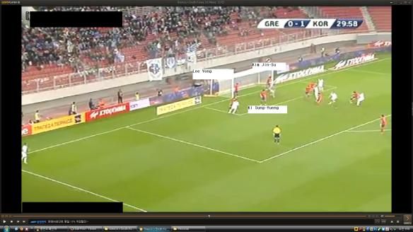 Initial corner comes in, Ki SY strangely has no man to mark and is just standing in the middle