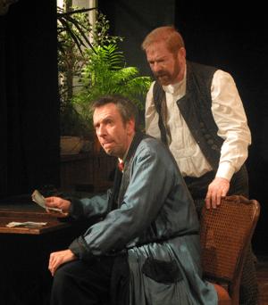 "Stefan Bartels und Pavel Bobrov in ""Der Revisor"""