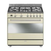 Smeg 115L Cream Gas / Electric Cooker SSA91MAP9