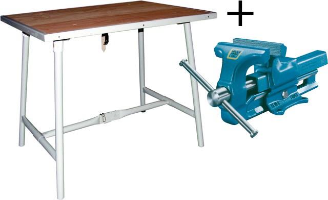 table de travail pliante et vice with table de travail