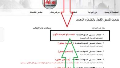 لينك نتيجة تنسيق الكليات 2021 أدبي المرحلة الثانية بوابة الحكومة المصرية للتنسيق Tansik