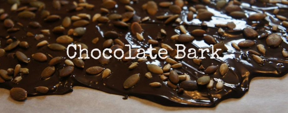 Making your own chocolate bark