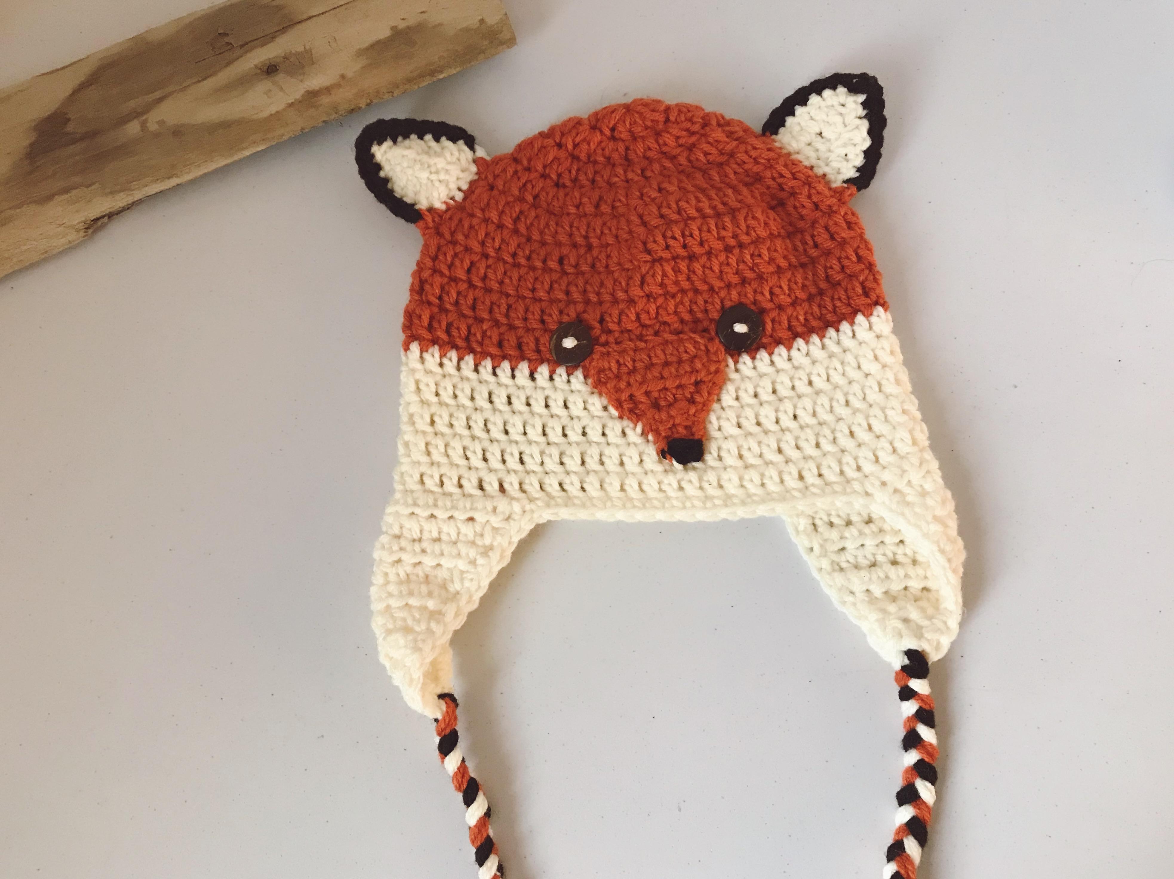 Handmade fox hat
