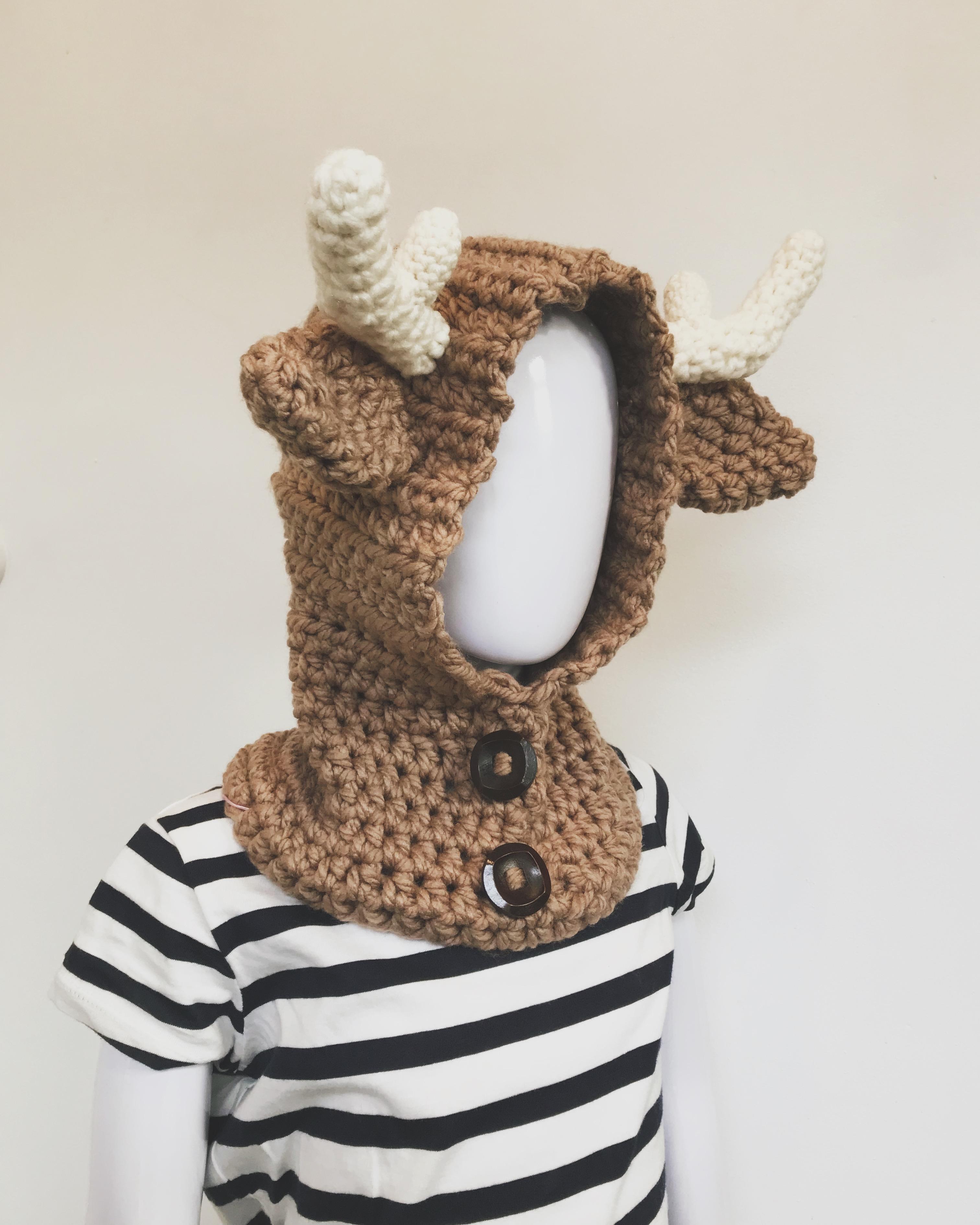 Crochet Deer Cowl